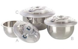 Stainless Vacuum Bowls with Lid